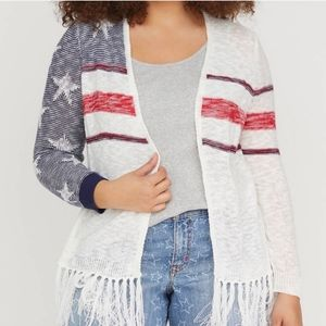 Lane Bryant Stars and Stripes cardigan size 18/20